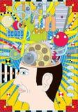 A capacidade da mente ilustração royalty free