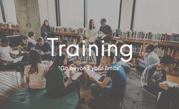 Capacidade das habilidades da tutoria do treinamento que estuda o conceito do desenvolvimento Fotografia de Stock