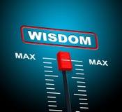 Capacidade de Max Means Upper Limit And da sabedoria ilustração stock
