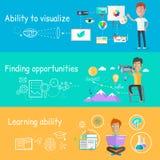 A capacidade de negócio de visualiza a aprendizagem ilustração royalty free