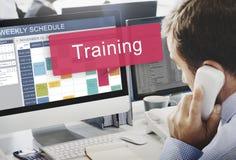 A capacidade de treinamento de formação do trem inspira o conceito das ideias Imagem de Stock