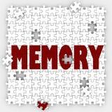 A capacidade perdedora da palavra da memória recorda eventos passados memorizar a mente com referência a ilustração royalty free