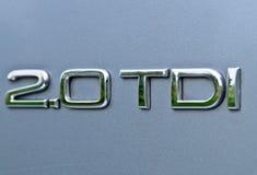 A capacidade turbocharged popular do motor Fotografia de Stock Royalty Free