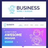 Capacidades bonitas da marca do conceito do negócio, desenvolvimento, Fe ilustração stock