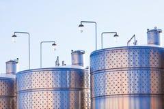 Capacità del metallo per vino Fotografie Stock