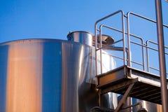 Capacità del metallo per vino Immagini Stock