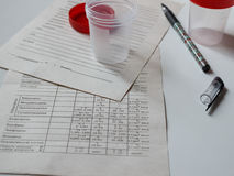 Capacità per analisi medica Immagine Stock Libera da Diritti
