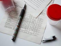 Capacità per analisi medica Fotografia Stock