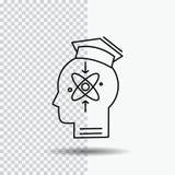 capacité, tête, humain, la connaissance, ligne icône de compétence sur le fond transparent Illustration noire de vecteur d'ic?ne illustration stock