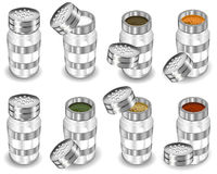 Capacities with spices stock illustration