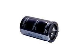 Capacitor eletrolítico Fotos de Stock