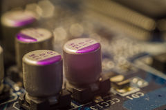 capacitores fotografia de stock royalty free
