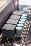 Capacitores do computador Imagem de Stock Royalty Free
