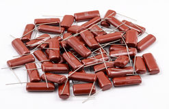 Capacitors Batch Royalty Free Stock Photography