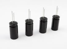 Capacitors. Elektrolitowy Zdjęcie Stock
