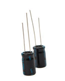 Capacitors isolated Royalty Free Stock Images