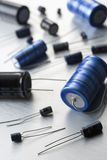 Capacitors And Resistors Royalty Free Stock Images
