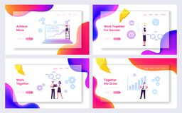 Free Capacity Building Website Landing Page Set. Education, Finance Goal Achievement Searching Solution, Improvement Royalty Free Stock Photos - 172091158