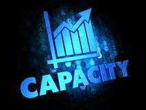 Capacity Concept on Dark Digital Background. royalty free illustration