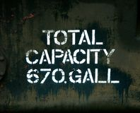 Capacity 670 gall Stock Image