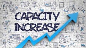Capacity Increase Drawn on Brick Wall. 3d. Royalty Free Stock Photography