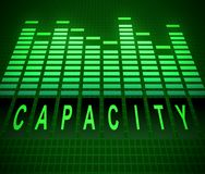 Capacity levels concept. Illustration depicting abstract green graphic equalizer levels with a capacity concept Stock Images