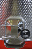 Capacity from stainless steel for wine. Stock Photography