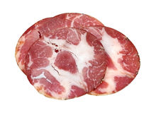 Capacola Ham Slices Royalty Free Stock Images