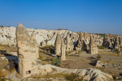Capadocia caves in the rocks Royalty Free Stock Photos