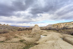 Capadocia's valley. Turkey. View of rocks of Capadocia Royalty Free Stock Photography