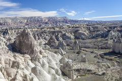 Capadocia's valley. Turkey. View of rocks of Capadocia Royalty Free Stock Photos
