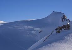 Capanna雷日纳Margherita山小屋,杜富尔峰,阿尔卑斯,意大利 库存图片