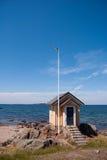 Capanna 02 della spiaggia fotografia stock