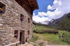 Capanna alpina Fotografia Stock