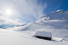 Capanna alpina Immagini Stock Libere da Diritti