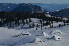 Capanna alpina Fotografia Stock Libera da Diritti