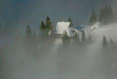Capanna alpina Fotografie Stock