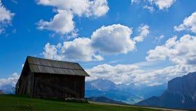 Capanna alpina in Alta Badia Fotografie Stock Libere da Diritti