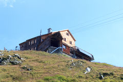 Capanna alpina Bonn Matreier Hutte, alpi di Hohe Tauern, Austria Fotografia Stock Libera da Diritti