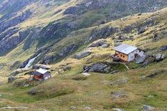 Capanna alpina Eisseehutte, alpi di Hohe Tauern, Austria Fotografie Stock Libere da Diritti