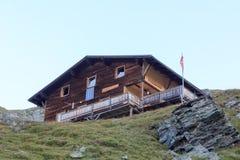 Capanna alpina Eisseehutte, alpi di Hohe Tauern, Austria Immagini Stock Libere da Diritti