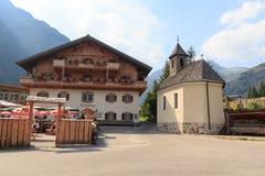 Capanna alpina Matreier Tauernhaus nelle alpi di Hohe Tauern Fotografie Stock Libere da Diritti