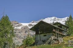 Capanna alpina in Piemonte Immagini Stock Libere da Diritti