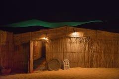 Capanna beduina della paglia Fotografie Stock
