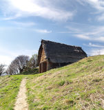 Capanna celtica, Havranok Skansen, Slovacchia fotografie stock libere da diritti