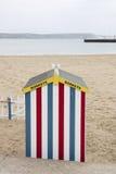 Capanna Colourful della spiaggia di giro dell'asino Fotografia Stock