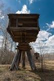 Capanna costruita sui pilastri Fotografia Stock Libera da Diritti