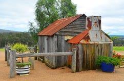 Capanna dei coloni, Pokolbin, Australia fotografia stock