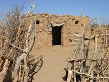 Capanna del fango nel deserto Fotografia Stock Libera da Diritti