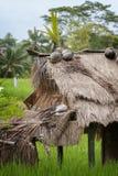 Capanna del giacimento del riso in Ubud, Bali Immagini Stock